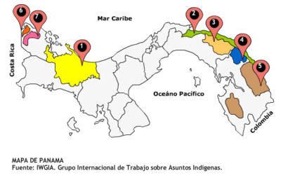 Panamá Mapa de las Comarcas